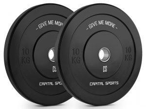 Capital Sports schwarze Bumper Plates 10kg