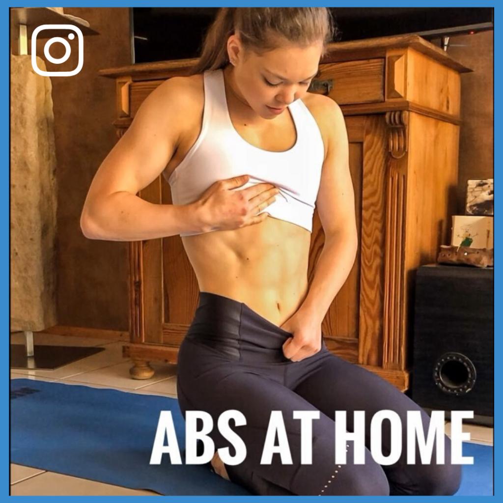 Lisa Schmitt Instagram Beitragsbild ABS at home