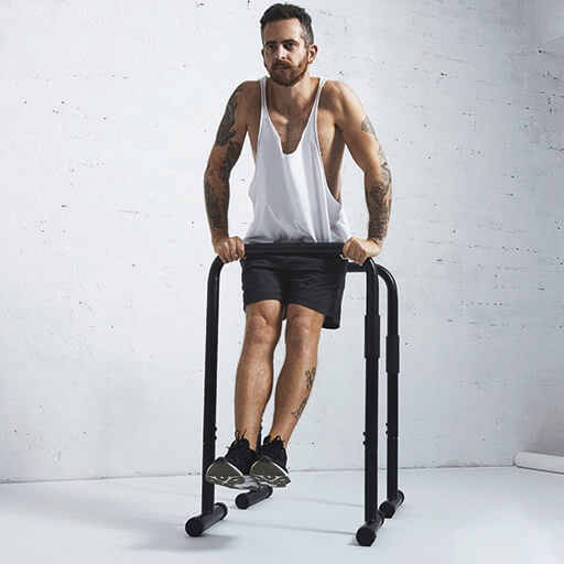 Straight bar Dip Parallettes