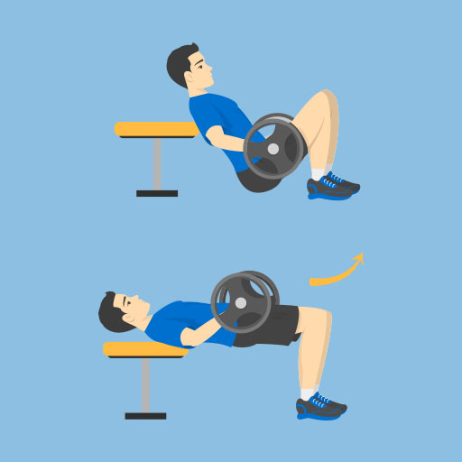 Barbell Hip Thrusts - Po Übung