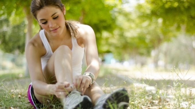 Fitnessbewusste Frau